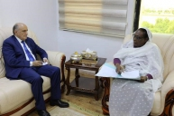 Foreign Minister Receives Representative of African Union to Sudan