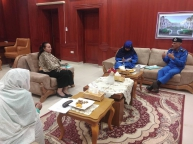 Raja Nicola meets delegation of Civil Registry Directorate